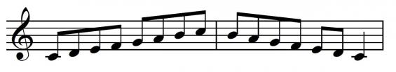 Fluit-toonladder 1a
