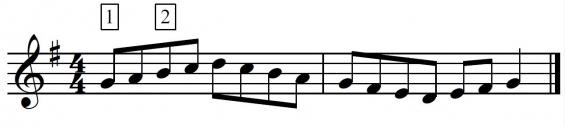 Fluit-toonladder 6