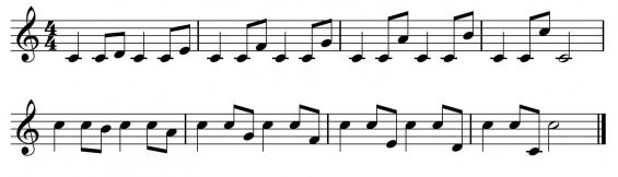 Fluit-toonladder 7