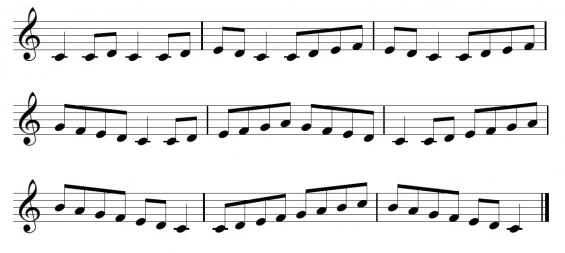 Fluit-toonladder 5
