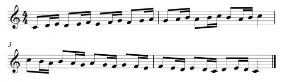 Fluit-toonladder 4