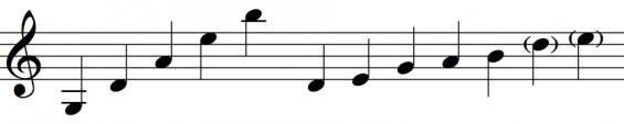 pentatonische reeks - Lebret